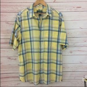 Woolrich Plaid Short Sleeve Button Down Shirt